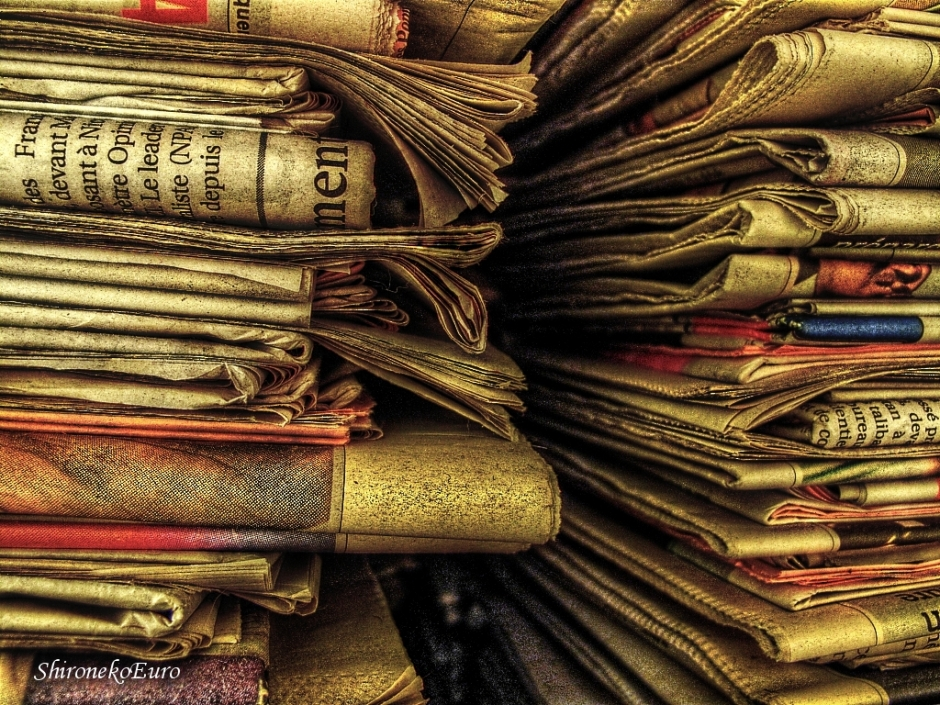 Old newspaper by ShironekoEuro (some rights reserved)