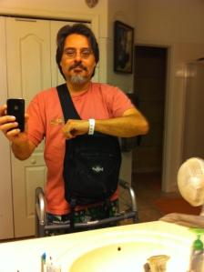Me and my backpack and walker. Image by Joe Bustillos.