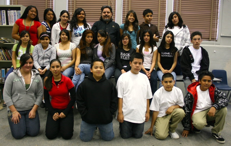 DeMille Middle School Yearbook Staff circa 2008