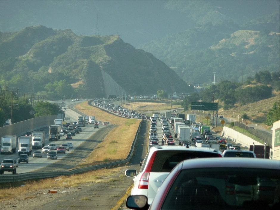 Los Angeles Traffic - The Newhall Pass 2544979655_76b4cef39a_b